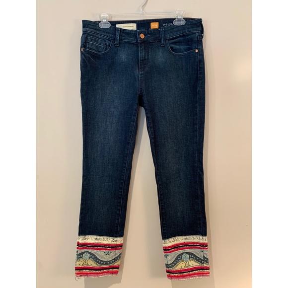 Pilcro and the Letterpress Denim - Pilcro & Letterpress Anthro Stet Boho Crop Jeans